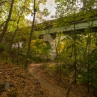 SEPTA Chestnut Hill West Line over new portion of Cresheim Trail