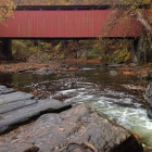 Heading downstream into Wissahickon Valley Park, one encounters the only covered bridge in any major city in America