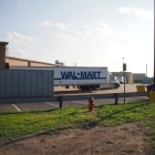 Walmart backs up to the trail