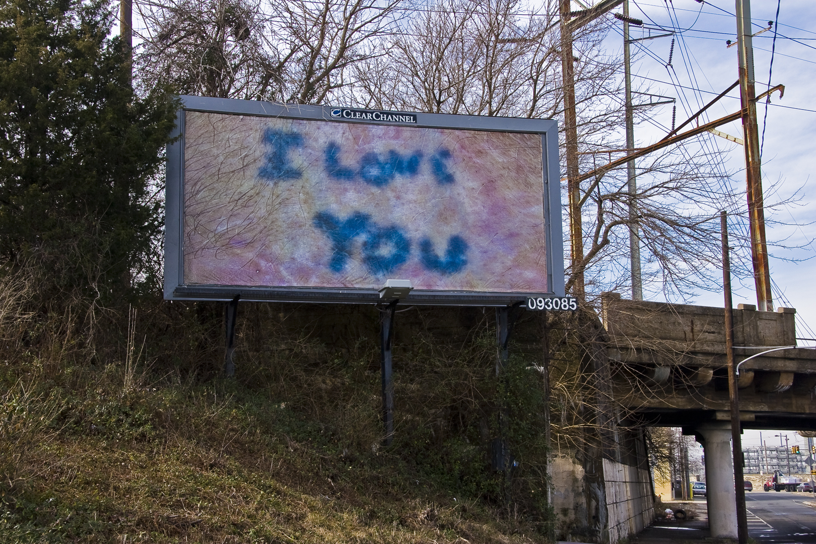 "Zoe Strauss ""I Love You"" billboard 
