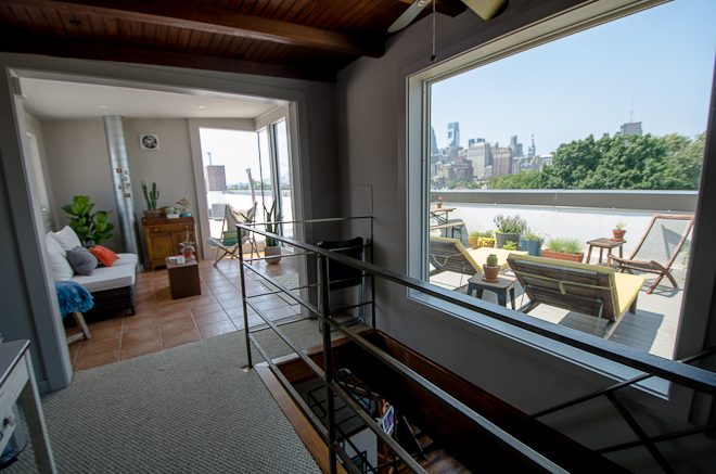 Third level rooms leading to roof deck | Photo: Theresa Stigale