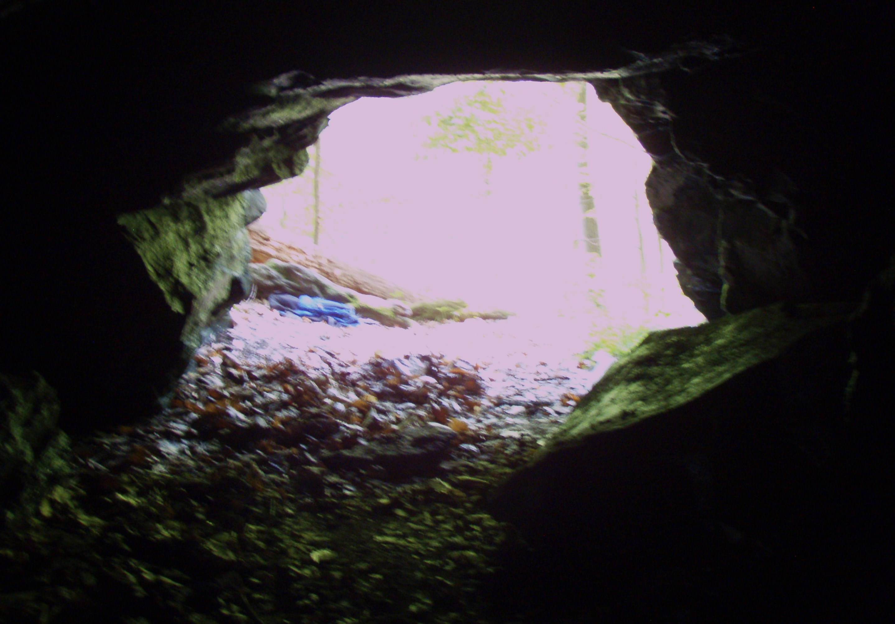 Looking out from inside the mine.  |  Photo: John Vidumsky