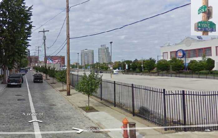 A Google maps view of the West Shipyard site these days.