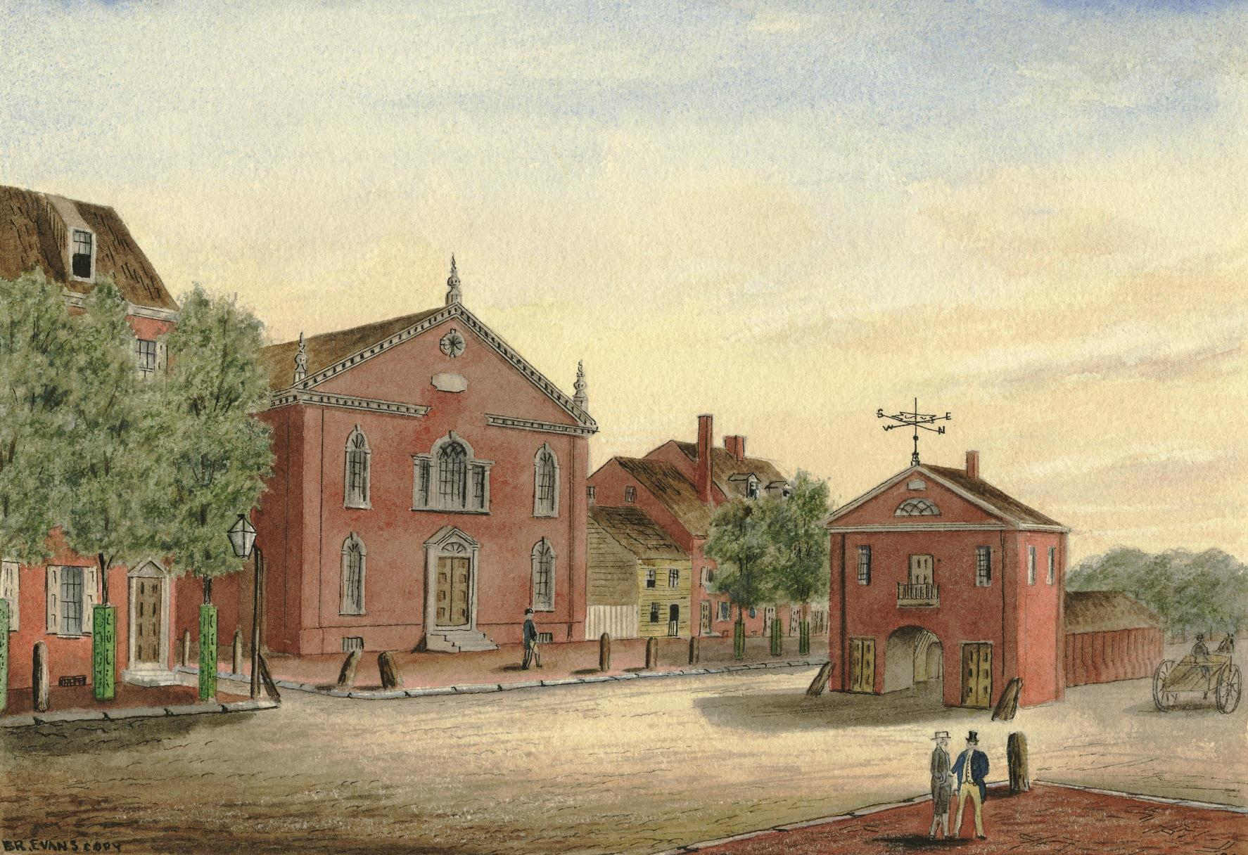 The Northern Liberties Town House, at Second and Coates Street, 1806