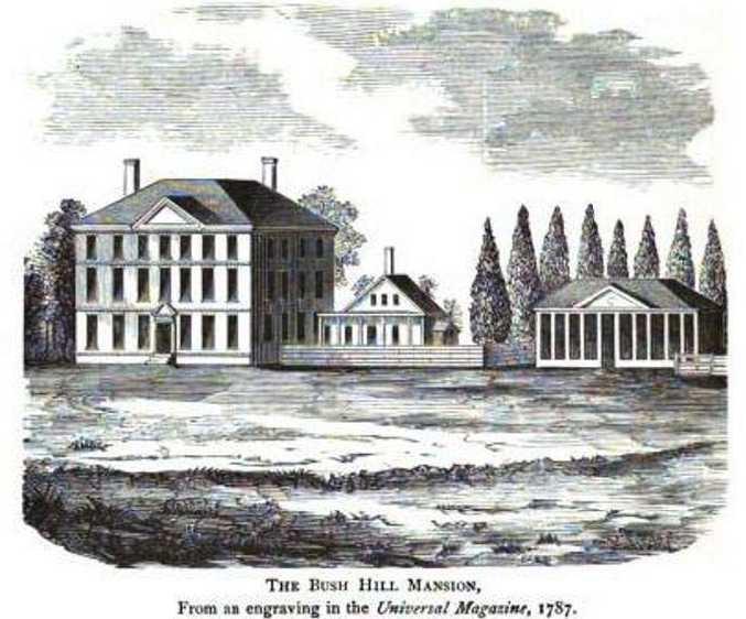 The Bush Hill mansion.