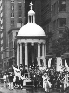 The Federal Edifice was later paraded in Washington, DC, as part of the presidential inaugural parade for George H. W. Bush (1989).