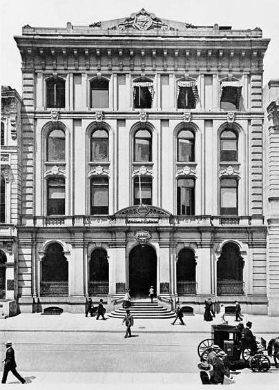 The Bank of Pennsylvania, 421 Chestnut Street, as it looked in circa 1910. From Stanley&#039;s View of Philadelphia (1911).
