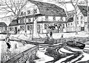 1908 rendering of the Penny Pot Tavern