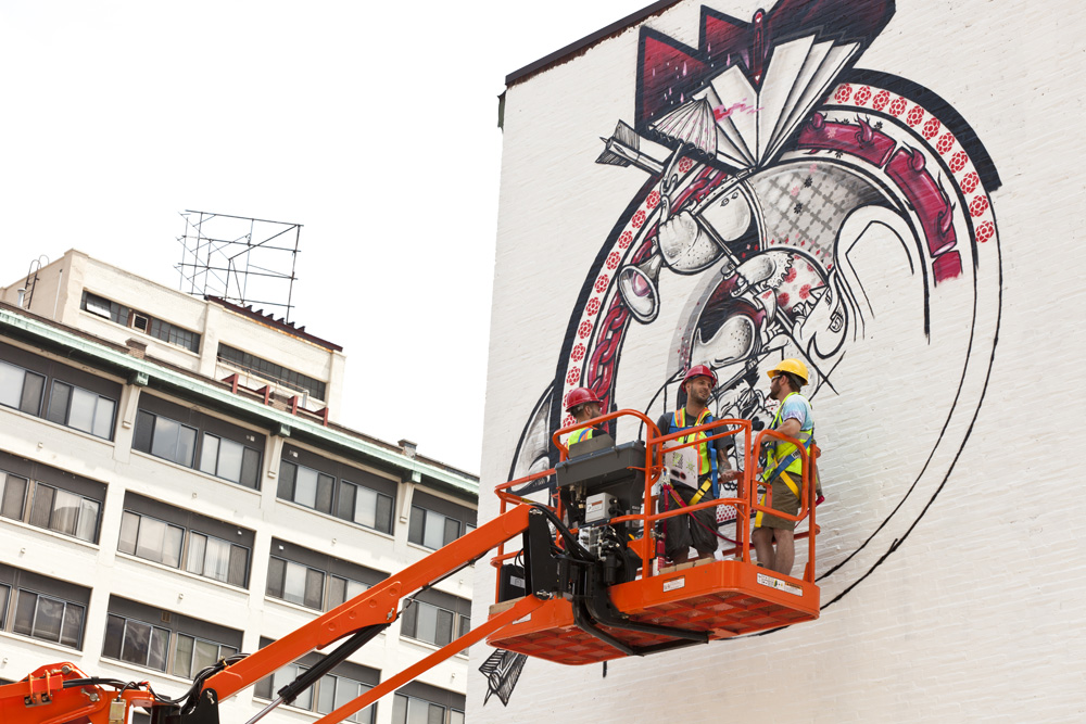 &quot;Personal,&quot; by How and Nosm in progress | Photo: Steve Weinik