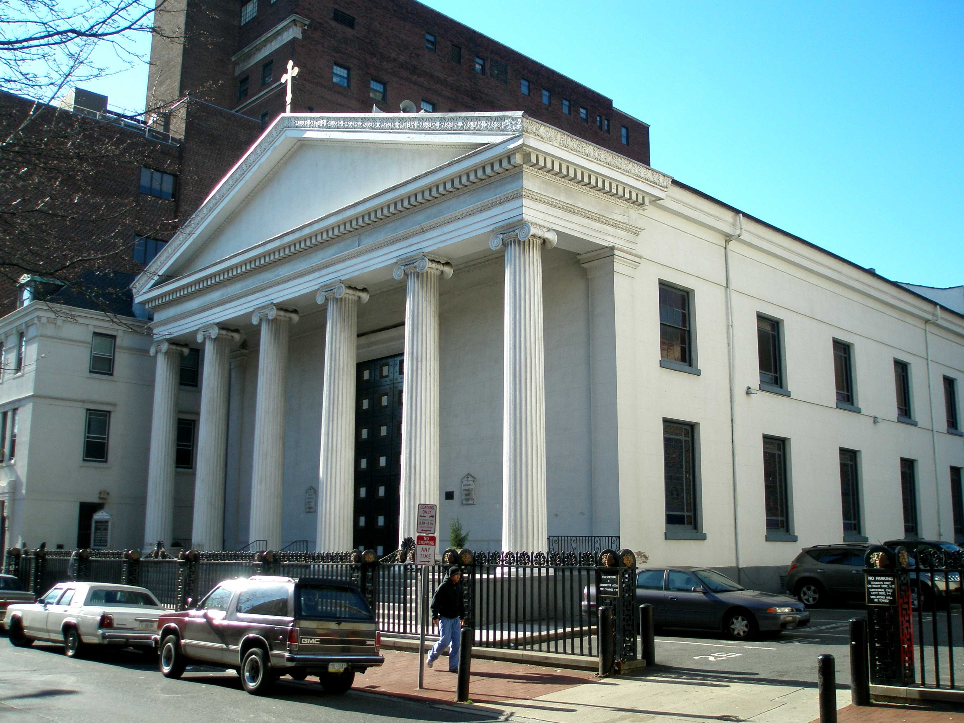 St. George's Greek Orthodox Cathedral (formerly St. Andrew's Protestant Episcopal Church) today.