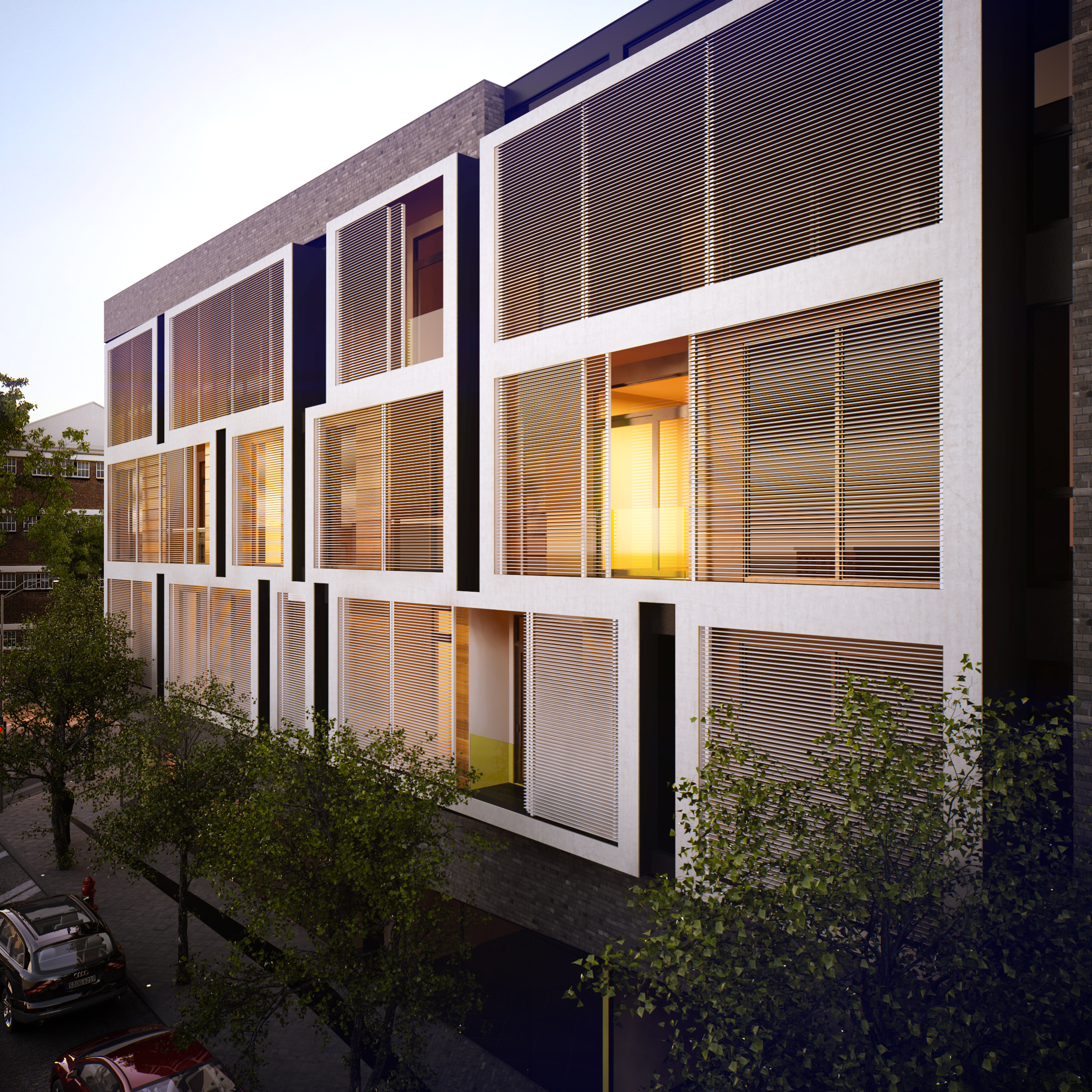 The retractable solar screens | Image: Lab Haus