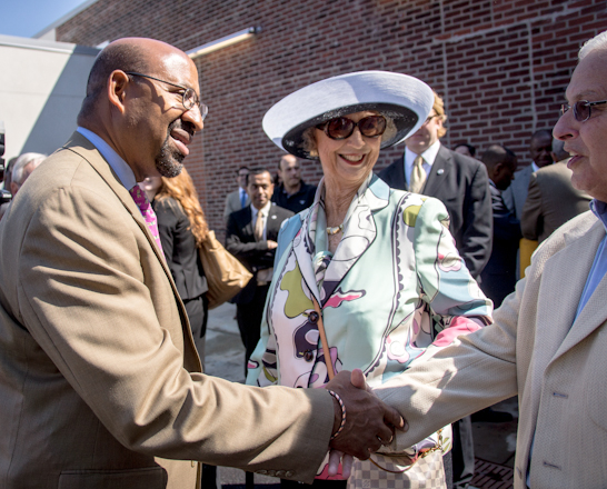 Mayor Michael Nutter and Dorrance H. Hamilton at the Center&#039;s ribbon-cutting | Photo: Theresa Stigale