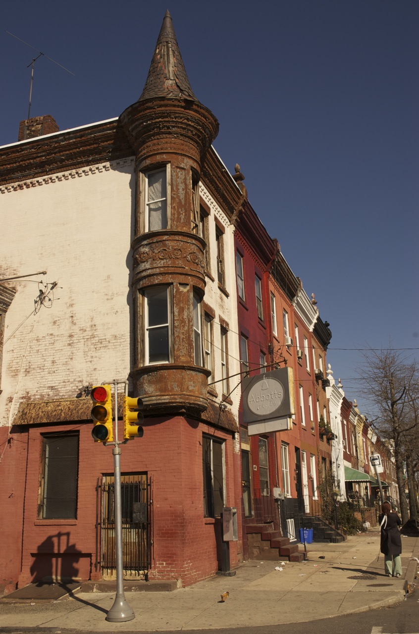 Rounded bay on a corner property in Brewerytown | Photo: Hidden City Daily