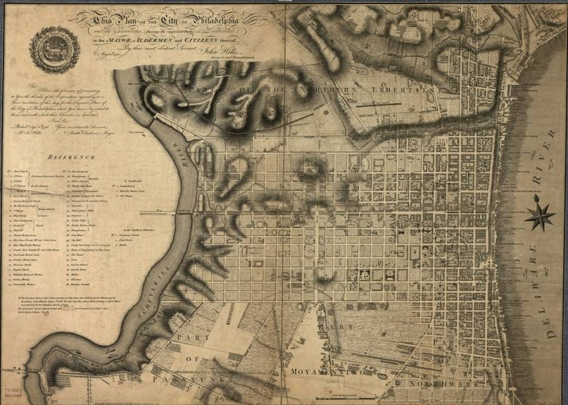 Philadelphia, 1796 | Image: Encyclopedia of Greater Philadelphia