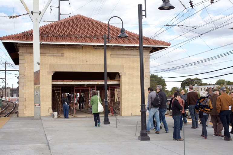 Wayne Junction station renovation, part of a future Wayne Junction TOD overlay | Photo: Hidden City Daily