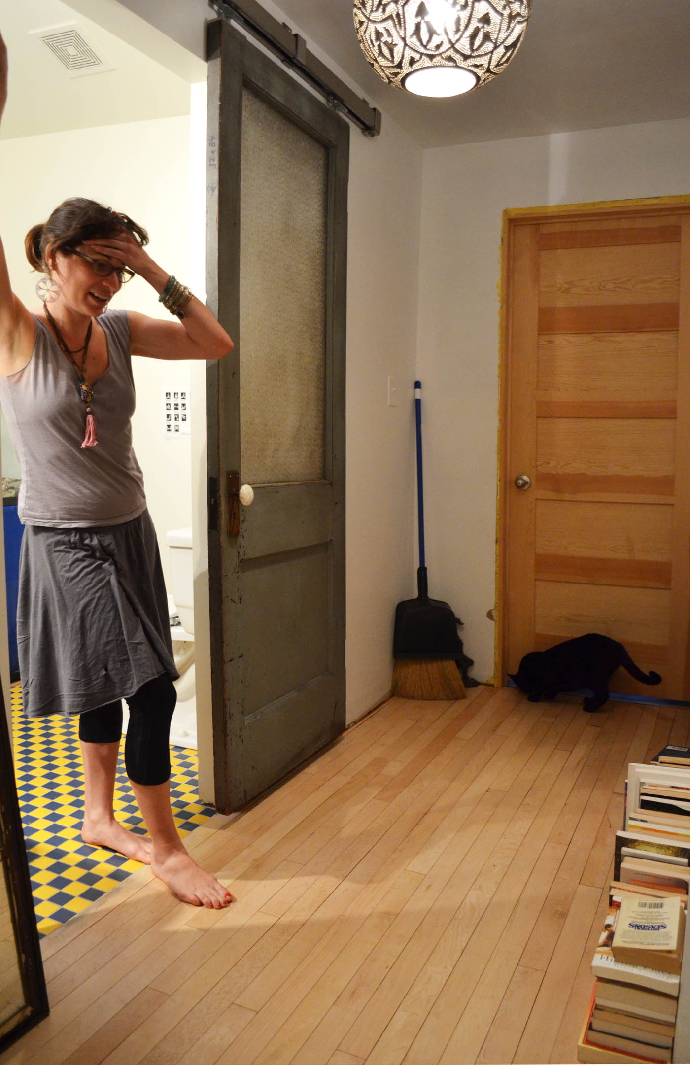 Mira recalls the ordeal of refinishing her floors. | Photo: Jacob Hellman