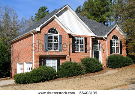Stock photo of a suburban house