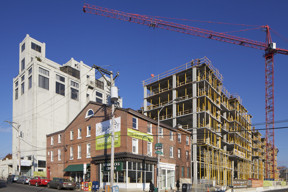 The Granary project under construction, 20th and Callowhill Sts. | Photo: Hidden City Daily