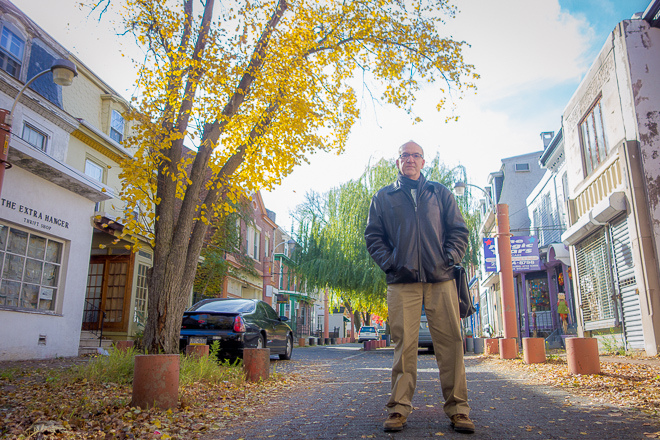 Andrew Trackman of Germantown United on Maplewood Mall   Photo: Theresa Stigale