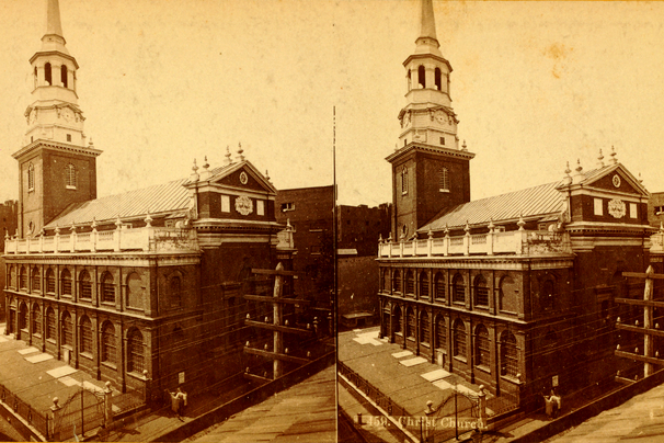 Christ Church in stereoview