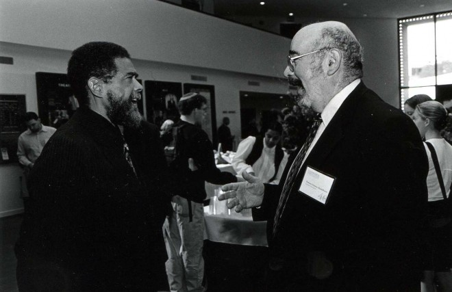 The late Seymour Mandelbaum with Oscar Gandy at Penn | Photo: Annenberg School for Communication