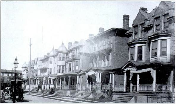 1908 photo looks northwest past 827 S. St. Bernard Street, right, and on toward Florence Avenue | Philadelphia Neighborhoods by Gus Spector, 1908 