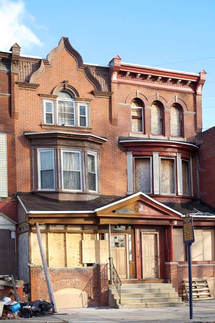 John Coltrane House is at left, 1511 N. 33rd Street | Photo: Peter Woodall