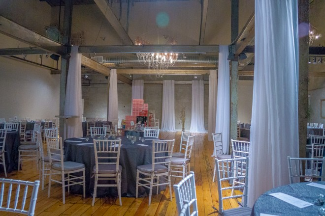 Main event space at FYE Catering in former barrel factory | Photo: Theresa Stigale