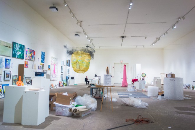 The Ice Box Project space at the Crane Building, hosting an In-Liquid benefit | Photo: Theresa Stigale