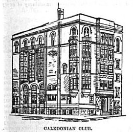 Rendering of Caledonian Hall | Source: Dundee Weekly News, January 13,1894