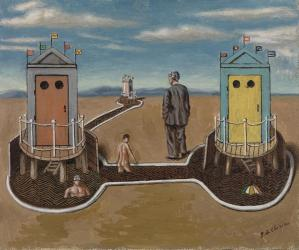 de Chirico, Two Mysterious Cabins, 1930 | Image: Courtesy Barnes Foundation, copyright 2013