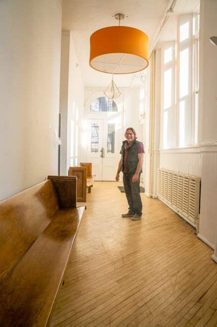 Nicholas Kripal in the Old School Building | Photo: Theresa Stigale