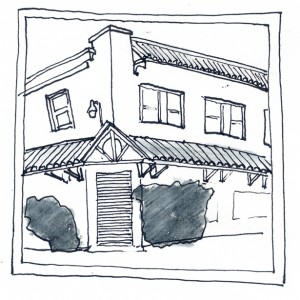 The legendary Schwarzwald Inn | Sketch: Ben Leech