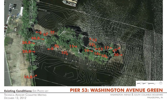 Working wetlands: a topographical study at Pier 53 | Image: Applied Ecological Services, Inc.