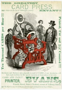The Greatest Card Press Extant!! | Courtesy of the Library Company of Philadelphia