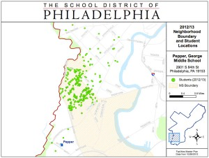 Most of Pepper's students have to travel a good distance to get to school | Image: School District of Philadelphia