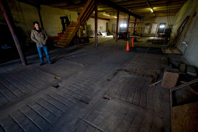 Tim Patton stands in a second floor with room for Saint Benjamin Brewery's growth | Photo: Bradley Maule