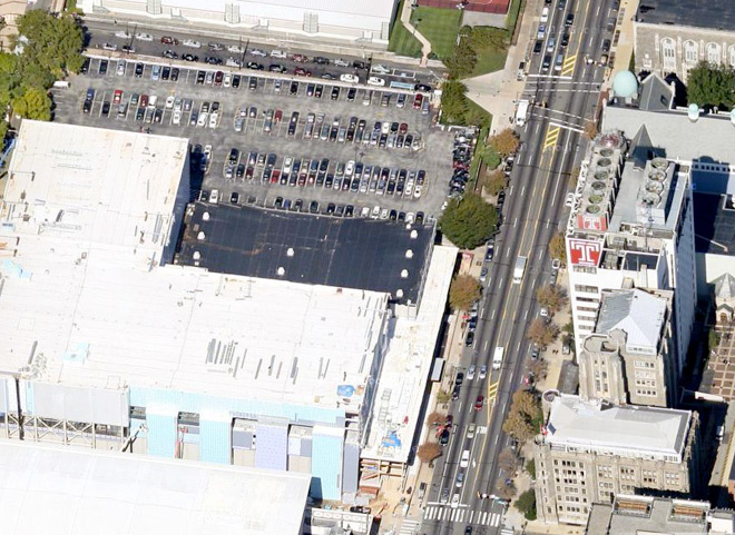 Another lot to be gone: site of forthcoming Snøhetta library at Temple University | Image: Google Maps