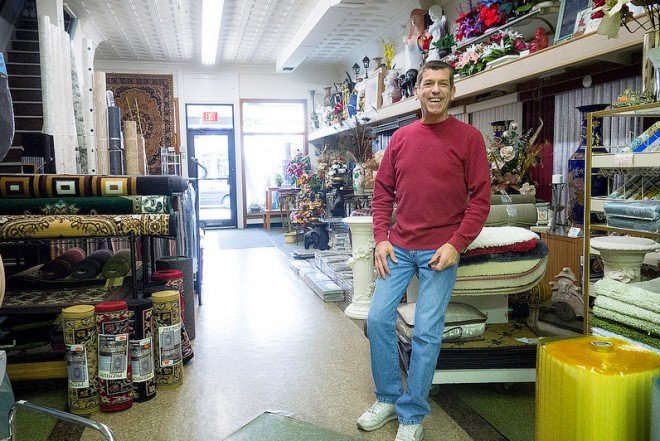Tom Foglio, Owner of Goldberg's Windows and Floors | Photo: Theresa Stigale