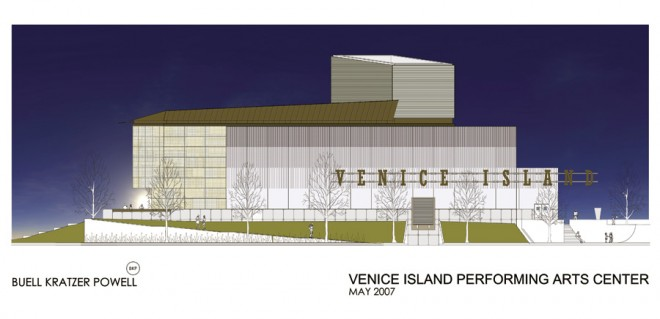 Rendering of performing arts center under construction | Image courtesy of Buell Kratzer Powell