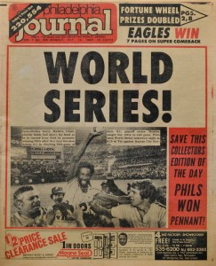 Cover of the Philadelphia Journal celebrating the Phillies winning the pennant in 1980.