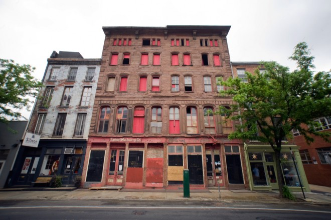Emblematic of Old City's blighted properties, Samuel Machinery is at last being redeveloped | Photo: Bradley Maule