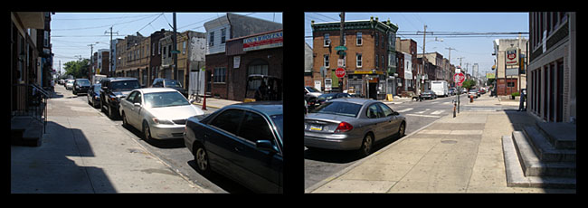 South 7th St.: View South/View North | Photos: Joseph G. Brin