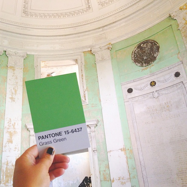 """First stop on Philadelphia's #HiddenCityFestival, the abandoned Germantown City Hall. I was in love with this fading rotunda. 