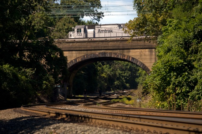 Amtrak passes over CSX | Photo: Bradley Maule
