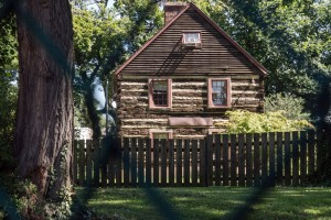 Log cabin in North Philly? Sure, why not? | Photo: Theresa Stigale