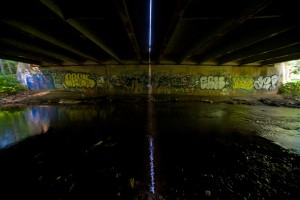 Under the old King's Highway: Frankford Avenue bridge over Poquessing Creek, looking from Philadelphia toward Bucks County | Photo: Bradley Maule