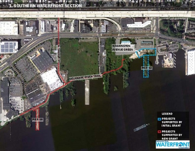 South planning section | Image: Delaware River Waterfront Corporation