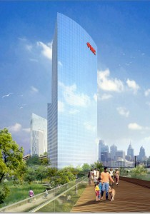 FMC Tower at Cira Centre South | Rendering: Brandywine Realty and Pelli Clarke Pelli