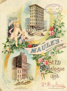 Cover of Maule's Seed Catalog from 1898. This one illustrates the two predecessors to 2100 Arch | Source: Smithsonian Libraries